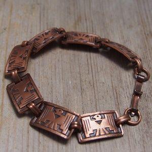 VTG Copper Thunderbird Southwestern Link Bracelet